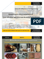 Cost Effective and Alternate Building Technologies-Indian Governments Role