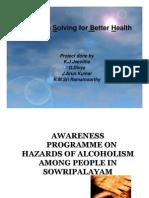 Awareness Programme on Hazards of Alcoholism