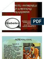 Diabetes Awareness and Screening Programme