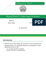 Beamer2Thesis 2.2 Guida Italiana
