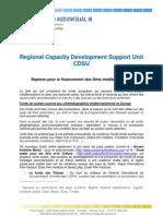Regional Capacity Development Support Unit CDSU Repères pour le financement des films méditerranéens