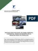 Proceso Para Inactivar Vehiculos