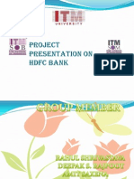 Project Presentation on HDFC Bank
