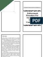OTAP Enforcement Procedures for OT Code of Ethics