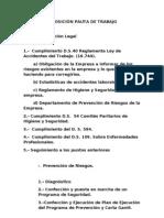 PROPOSICIÓN PAUTA DE TRABAJO