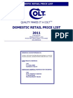 2011 Retail Price List