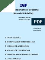 Test Inteligencia General y Factorial (IGF)
