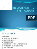 THYRISTOR AND IT'S APPLICATIONS