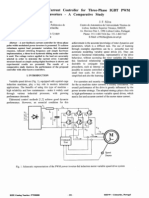 A Novel and Simple Current Controller for Three-phase IGBT PWMpower Inverters-A Comparative Study