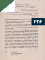 """Re-reading Holub's Anti-Poetry & """"তিক্তং আশুফলপ্র্দং"""""""