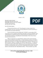 Letter -- NYSFDB to Chief Judge Jonathan Lippman 10-31-2011