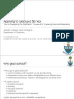Grad School Seminar
