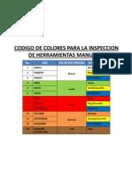 Codigo de Colores Para La Inspeccion de Herramientas y Electric As
