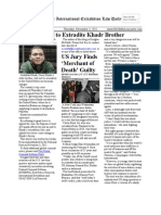 November 3, 2011- The International Extradition Law Daily
