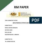 Biometric system by shoyab siddiquee 10805456