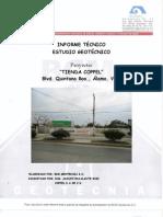 MECANICA DE SUELOS INFORME TIENDA, +üLAMO, VER.