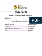 Security Attacks In Sensor Networks