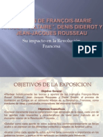 Aportes de Voltaire, Diderot y Rousseau en La Revolucion Francesa