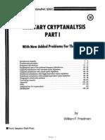 Friedman W.F. Military Crypt Analysis 1