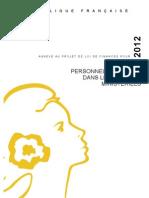 PLF 2012 - Personnels affectés dans les cabinets ministériels