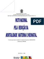Pacto Nacional Pela Reducao Da Mortalidade Materna e Neonatal