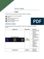 Dell E6410 Error Codes