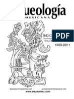 Indice Revista Arqueologia Mexicana 2011