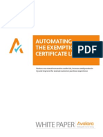Automating the Exemption Certificate Lifecycle