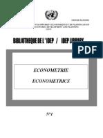 econometrie novembre 2004
