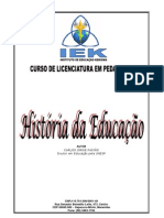 Apostila de Historia Da Educacao