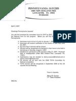 2007 OYP Letter