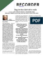 Recent holding invites derivative suits