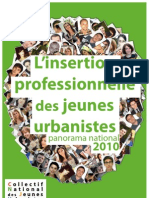 L'insertion professionnelle des jeunes urbanistes - panorama national 2010