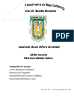Calidad Educativa.desarrollo de Una Cultura de Calidad