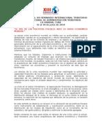 Convocatoria XIII SIT 2010