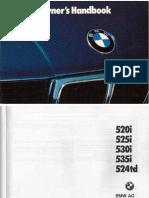 E34 Owners Manual