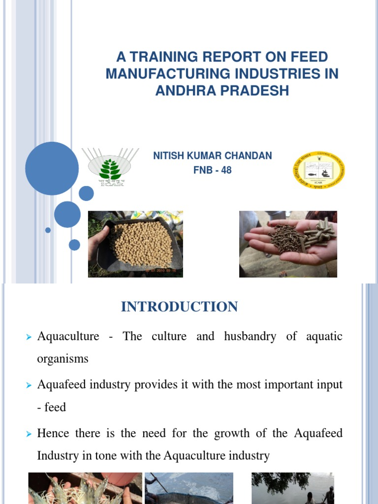 A Training Report on Feed Manufacturing Industries in Andhra
