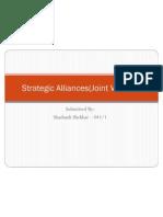 Strategic Alliances(Joint Venture)