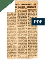 Jose Carlos Mariátegui no fundó el Partido Comunista
