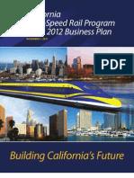 California High Speed Rail (HSR) 2012 Draft Business Plan
