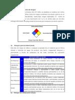 Descripción de riesgos Productos Químicos.