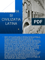 Cultura Si Civilizatia Latina