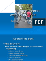 Sight Reconnaissance of Westerfold's Park