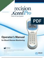 Precision Xceed Pro Operator's Manual