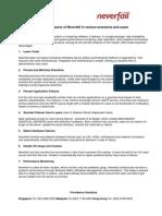 Neverfail Scenarios and Advantages 20060217