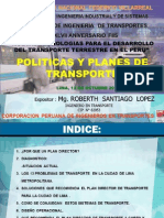 Plan de Transporte 2011