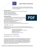 SFSU Position Announcement 10-11-2011