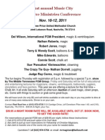 21st Annual Music City Info Sheet