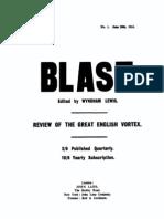 Blast - Vorticist Manifesto