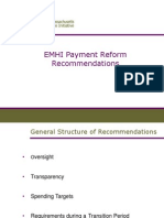 Eastern Massachusetts Healthcare Initiative Payment Reform Recommendations